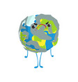 cute angry cartoon earth planet character funny vector image vector image