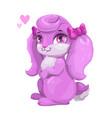 cute cartoon bunny girl vector image vector image