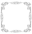 Delicate calligraphic frame vector image vector image