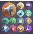 Digital marketing flat round icons set vector image vector image