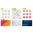 discount offer synchronize and statistics icons vector image vector image