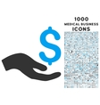 Donation Icon with 1000 Medical Business Icons vector image vector image