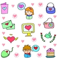 Doodle of love theme art vector image