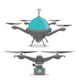 drone and express delivery design vector image