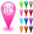 FAQ button vector image vector image