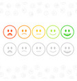 feedback emoticon set vector image vector image