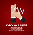 Fingers Checking Pulse Medical Concept vector image