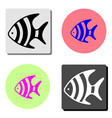 fish flat icon vector image