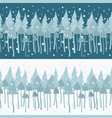 flat style christmas holiday seamless pattern vector image vector image