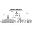 germany hamburg architecture line skyline vector image vector image