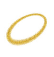 gold circle light glitter effect golden ring vector image vector image