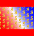 golden dollar on colorful background vector image vector image