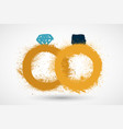 golden wedding rings icon on white background vector image vector image