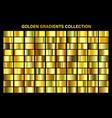 golden yellow glossy gradient gold metal foil vector image