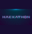hackathon hud hologram cyberpunk style banner vector image vector image