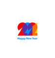 happy new year 2021 modern background 2021 vector image vector image