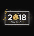happy new year background 2018 realistic vector image vector image