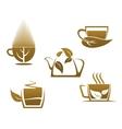 Herbal tea cups vector image vector image