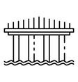 high bridge icon outline style vector image
