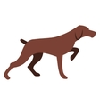 Hunting dog icon vector image vector image