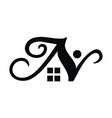 letter n property vector image