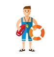 Lifeguard Flat style colorful Cartoon vector image vector image