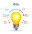 lightbulb infographic design template vector image vector image