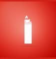 lighter icon isolated on red background vector image