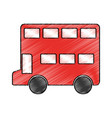 london bus isolated icon vector image vector image