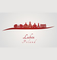 lubin skyline in red vector image vector image