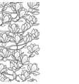 magnolia seamless border vector image vector image