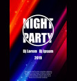 night party flyer poster template design vector image vector image
