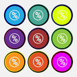 percentage discount icon sign Nine multi colored vector image vector image