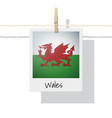 photo of wales flag vector image