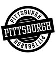 pittsburgh black and white badge vector image vector image