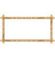 rectangle brown bamboo frame with rope and copy vector image vector image