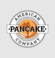 retro american pancake logo design vector image vector image