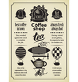 retro coffee and tea vector image vector image