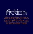 science fiction style font design alphabet vector image vector image