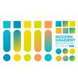 set gradient 08 vector image vector image