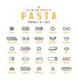 set icons varieties pasta vector image vector image