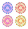 set of flat isolated colored yellow red pink vector image