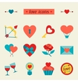 set valentines and wedding icons design vector image