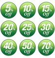 Shopping Sale Discount Badge in Green vector image vector image