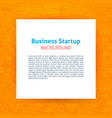 startup paper template vector image vector image
