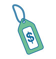 tag price isolated icon vector image
