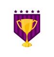 trophy award championship emblem vector image