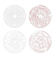 two round mazes medium complexity on white vector image