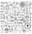 Wedding vintage elements big collection vector image vector image