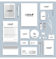 White set of corporate identity templates vector image vector image